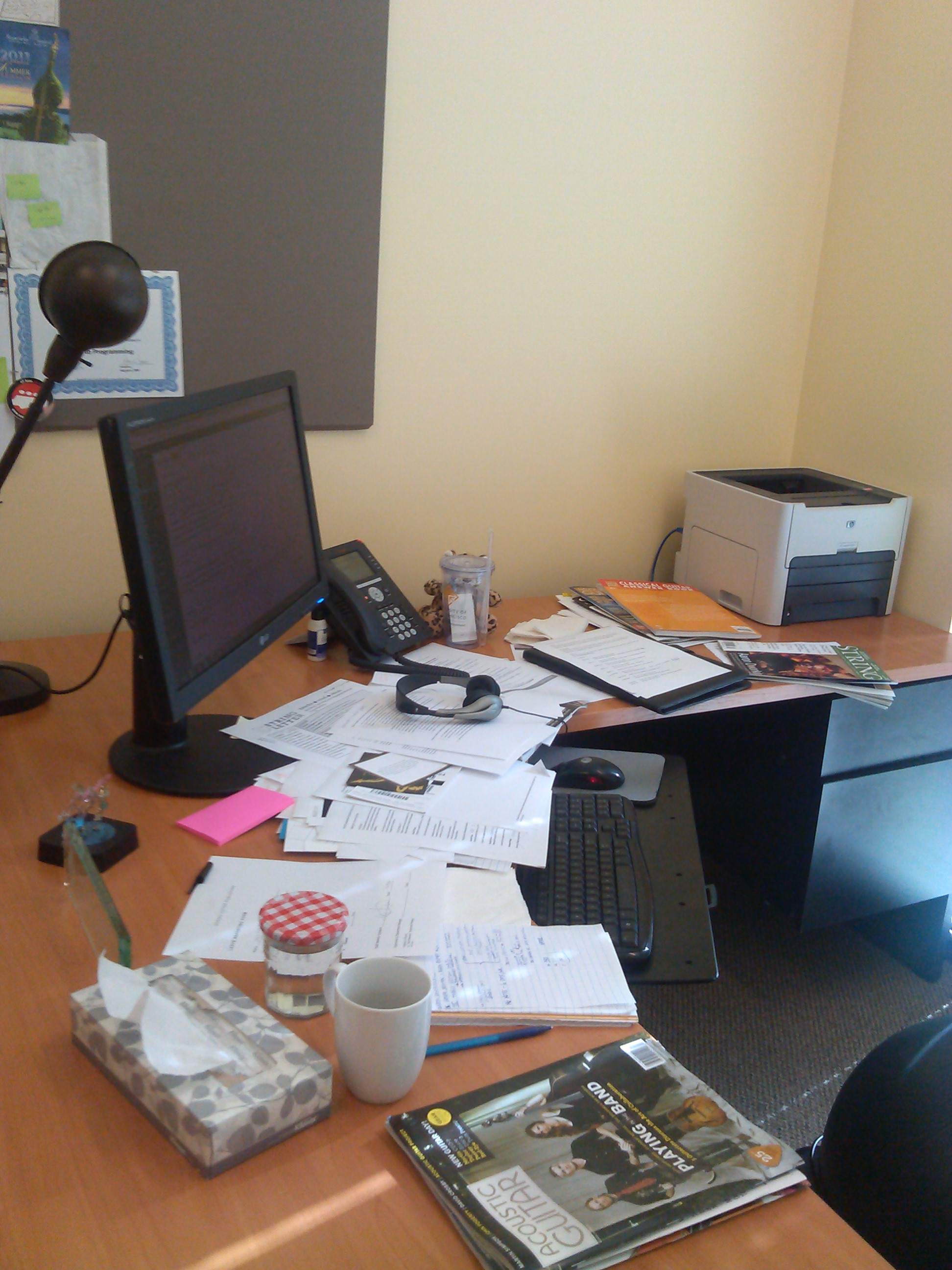 lyzy's messy desk