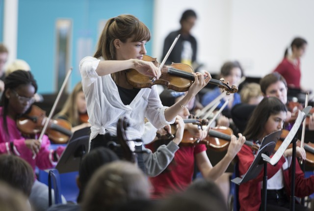 MiSST Andrew Lloyd Webber Foundation Nicola Benedetti Highbury Grove School Four Coleman Getty 9 May 2015  Commissioned by Truda Spruyt at Four Coleman Getty